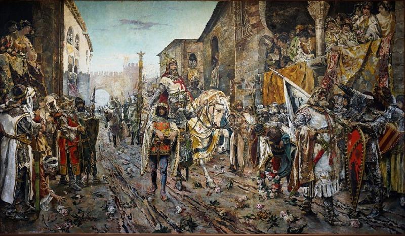 Entrée triomphale de Jacques Ier en Valence, Fernando Richart Montesinos (1884)