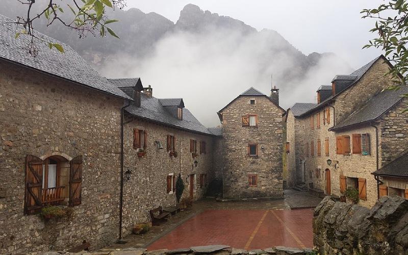 Le village de Bubal, province de Huesca
