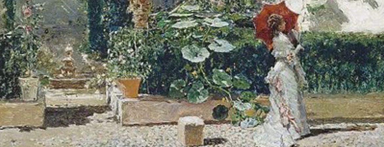 "Peinture ""Jardin de la maison de Fortuny"" - Mariano Fortuny"