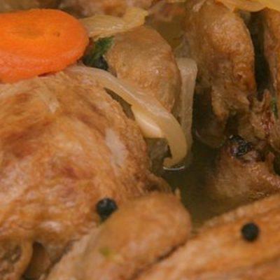 Cailles en sauce escabèche, recette traditionnelle de Castille