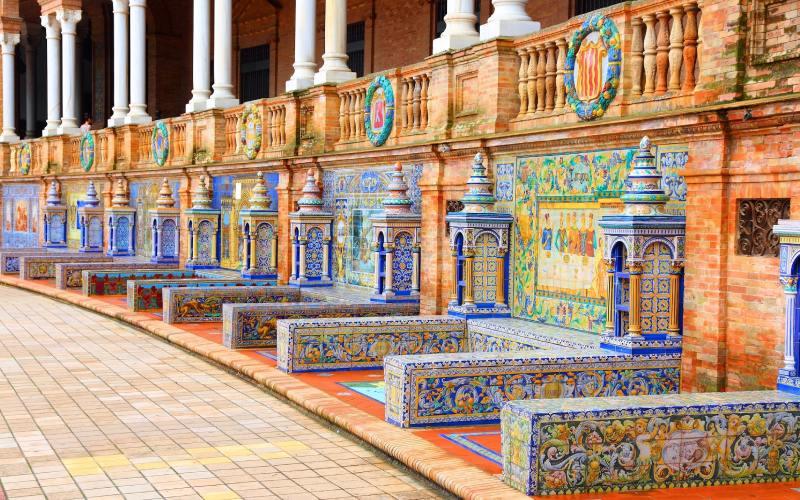 Les Bancs de la Place d'Espagne de Séville