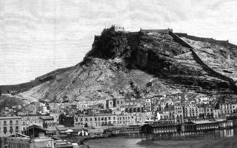 Le château d'Alicante en 1875