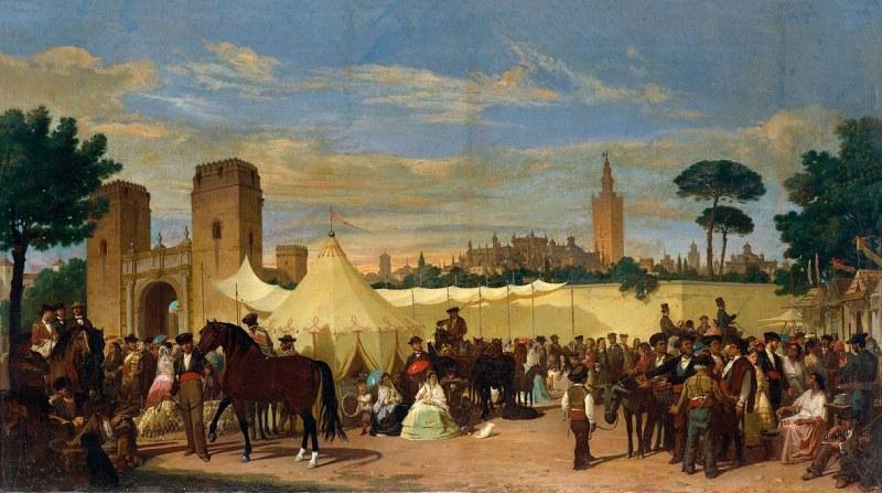 Tableau représentant la Foire d'Avril en 1867
