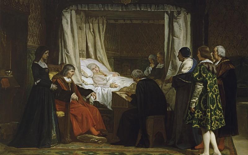 Isabelle la Catholique dictant son testament