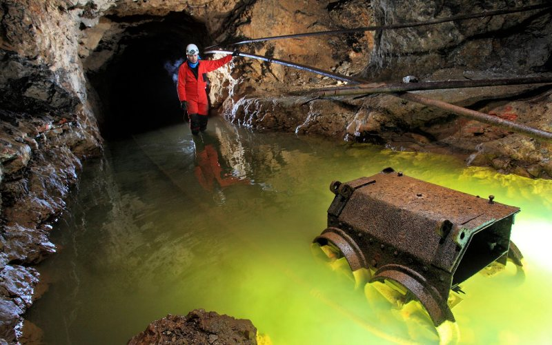 Visite d'une mine à El Soplao