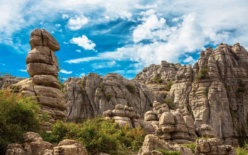 Paysage du Parc naturel du Torcal d'Antequera