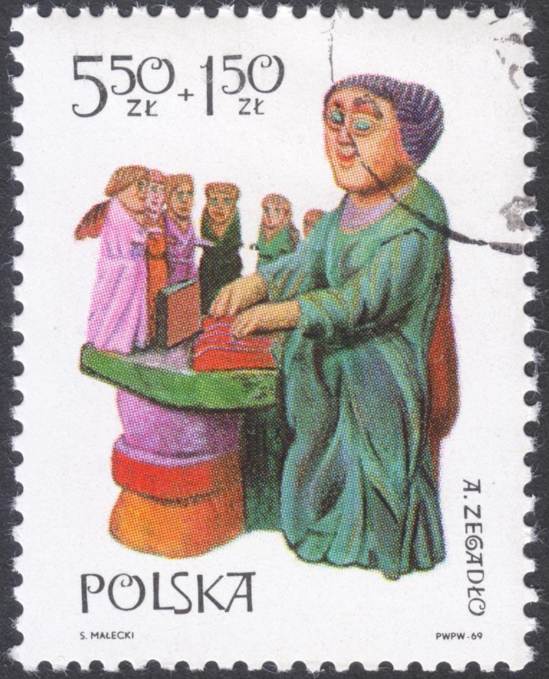 Timbre commémoratif des figures de Zegadlo