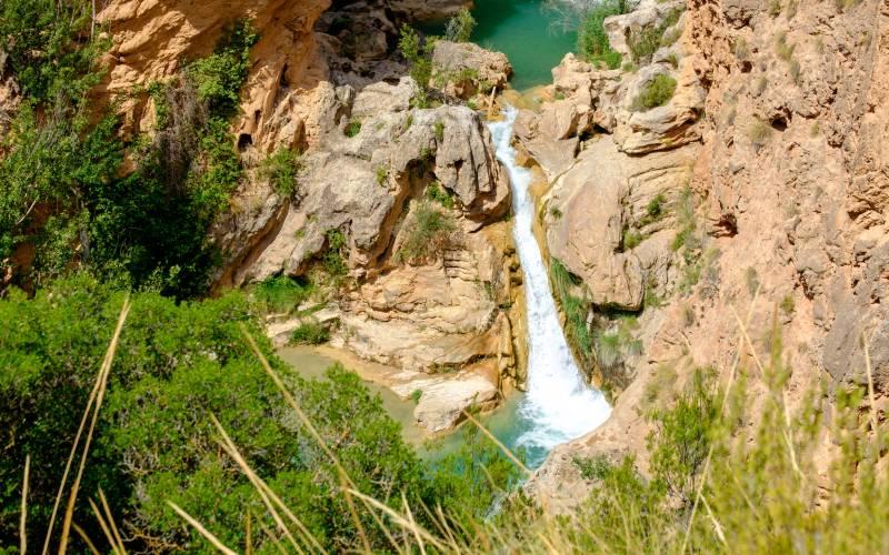 Chemin de randonnée aux chutes d'eau d'Enguídanos