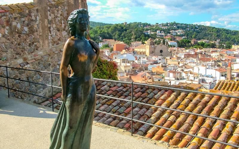 Sculpture d'Ava Gardner à Tossa de Mar
