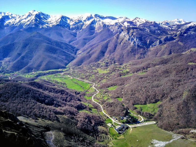 Panoramique de Fuente Dé, un hameau très isolé