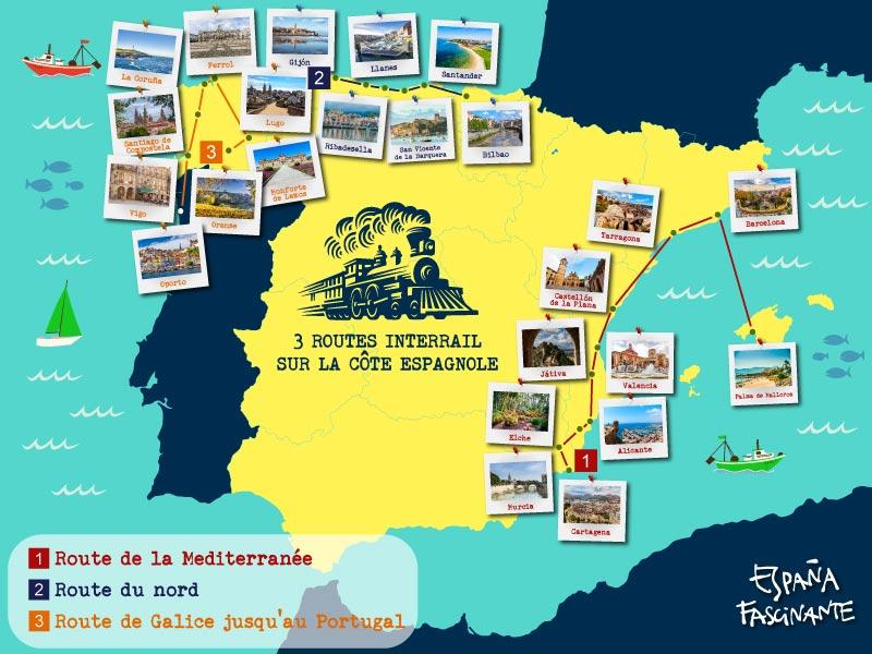 InterRail à travers l'Espagne