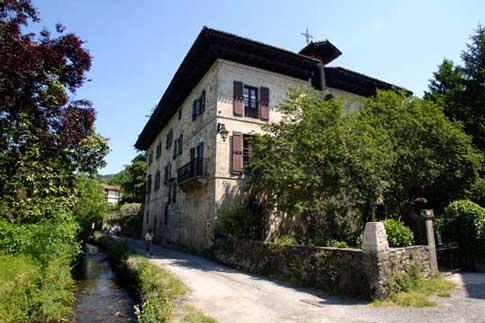 Casa Itzea, perteneciente a la familia Baroja, en Vera de Bidasoa