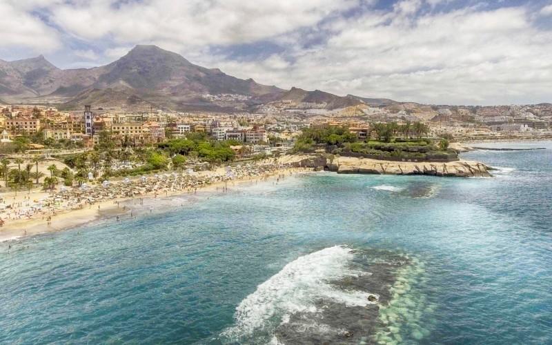 La plage de Las Américas à Tenerife