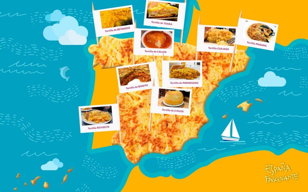 Carte des meilleures tapas d'Espagne