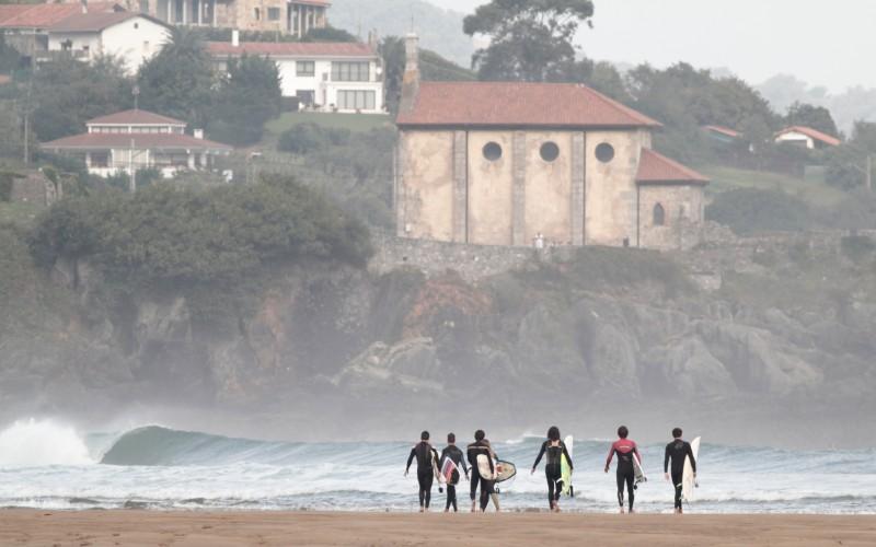 La plage de Mundaka au Pays basque
