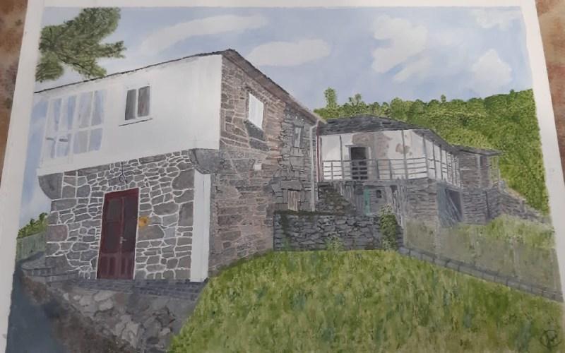 Dessin des bâtiments de Tronceda