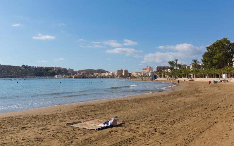 La plage de Rihuete en Murcie