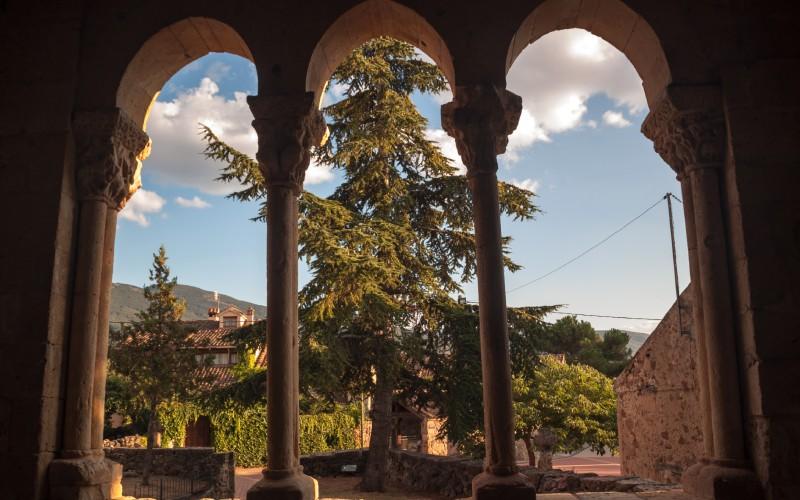 Vues depuis la galerie de l'église de San Miguel Arcangel
