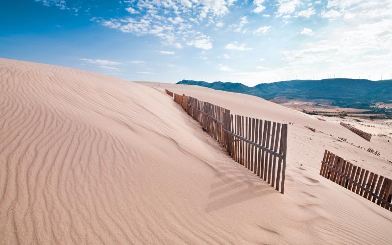 Dunes de la plage de Bolonia de Tarifa