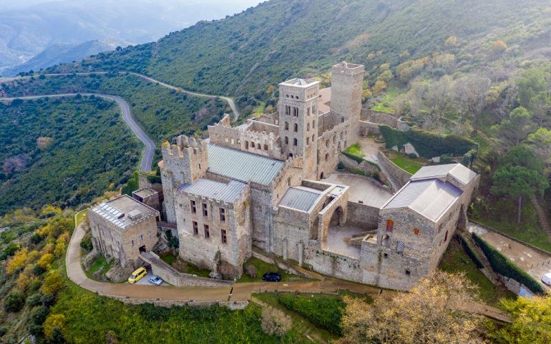 Vue aérienne du monastère de Sant Pere de Rodes