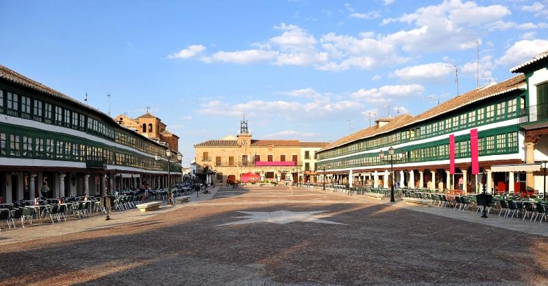 Vue générale de la place d'Almagro