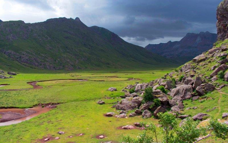 Les méandres du fleuve d'Aguas Tuertas