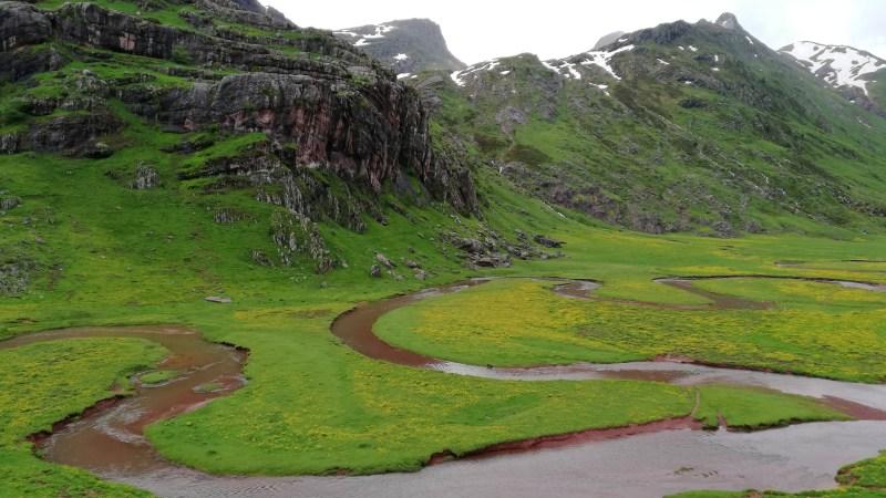 La neige est fréquente dans le paysage pendant une grande partie de l'année