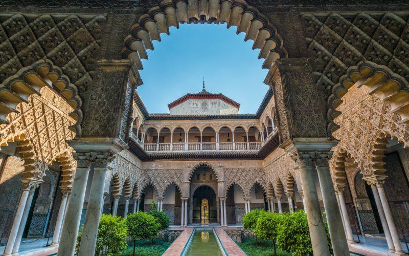 Quatrième haut de l'Alcazar royal de Séville