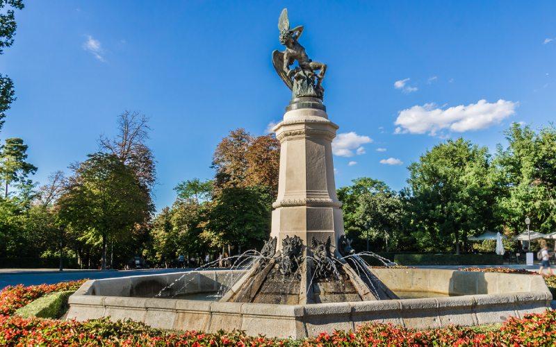Fontaine de l'ange déchu, Madrid