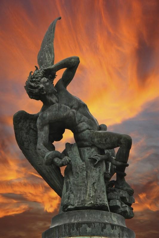 L'ange déchu dans le Retiro, Madrid