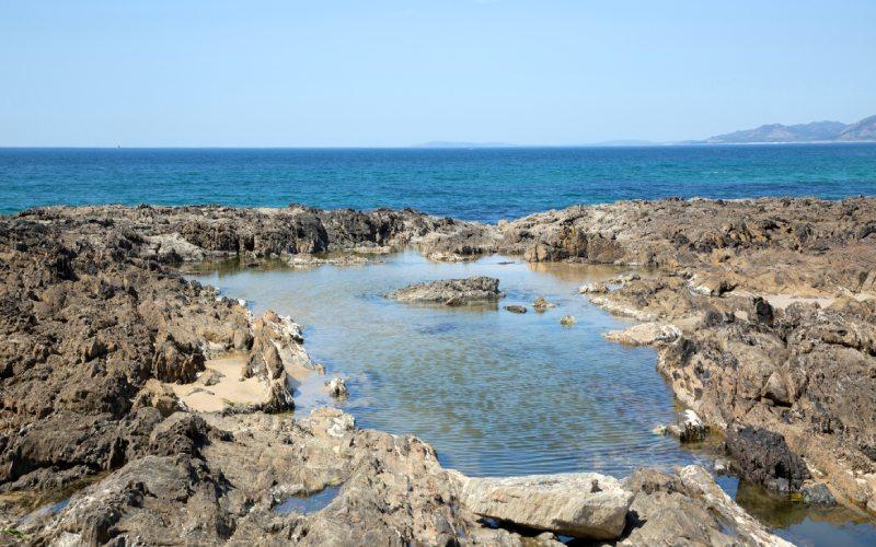 Comme la piscine d'eau de mer d'As Furnas