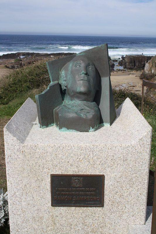 Buste de Ramon Sampedro à As Furnas