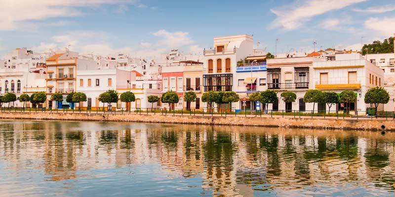 Ayamonte et ses maisons en bord de mer