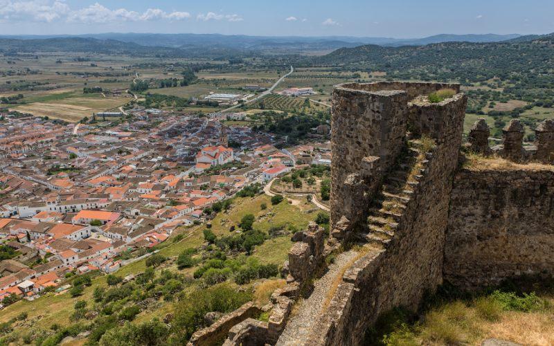 Panoramique du château de Burguillos del Cerro