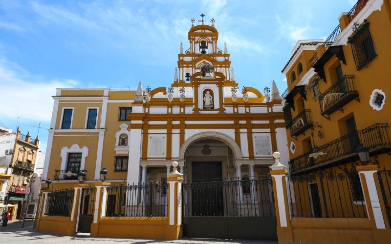 Image frontale de la Basilique de la Macarena, Séville