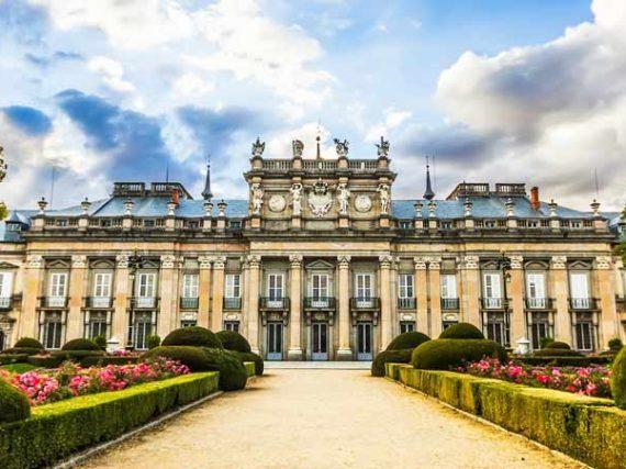 Jardins du palais royal de La Granja de Ségovie