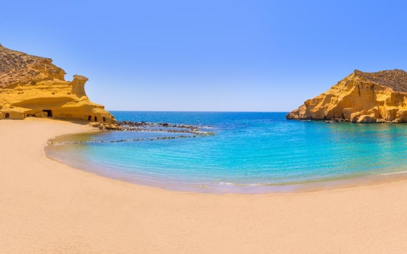 Formations rocheuses de la plage de Los Cocedores