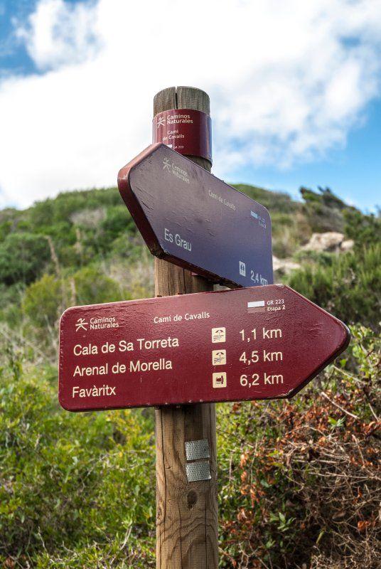 Panneaux indicateurs du Camí de Cavalls