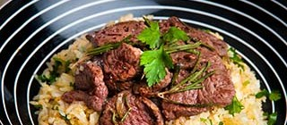 carne arroz