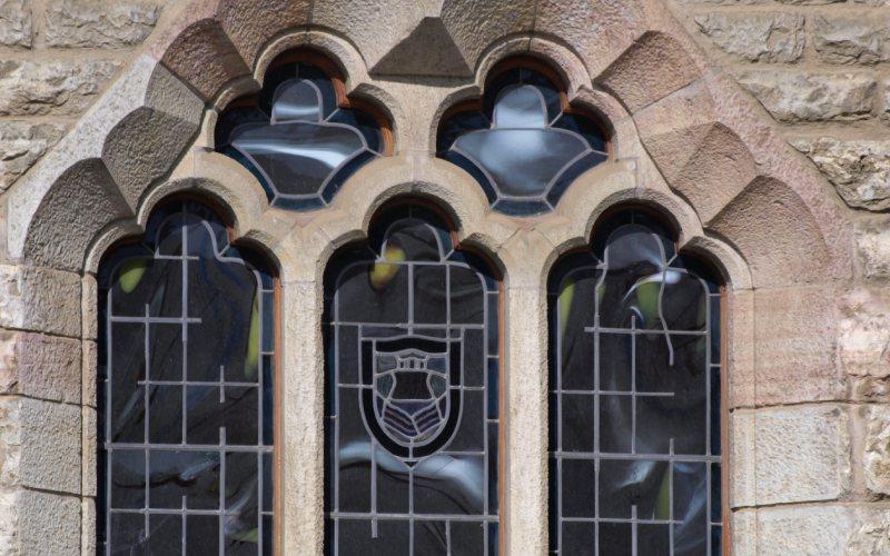 Quelques détails des fenêtres de la Casa Botines, le musée Gaudí