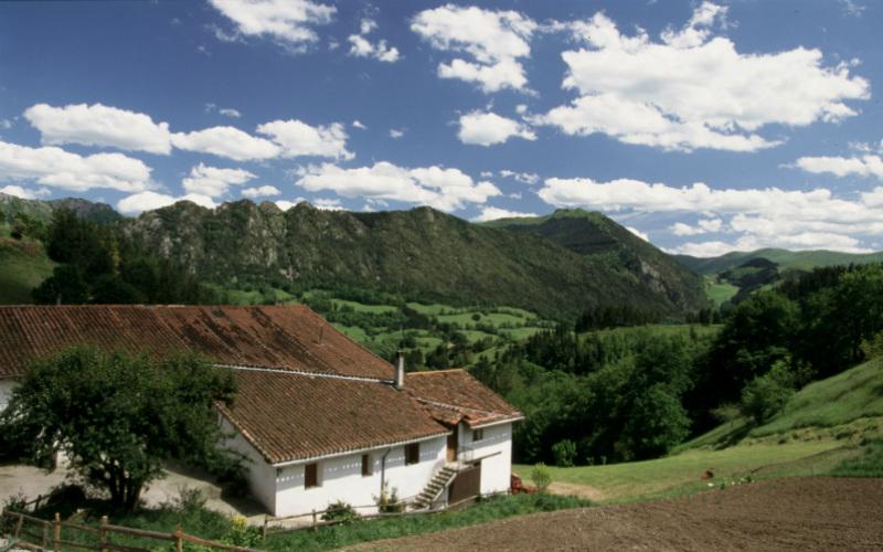 Caserío Aldarreta en San Sebastián región.