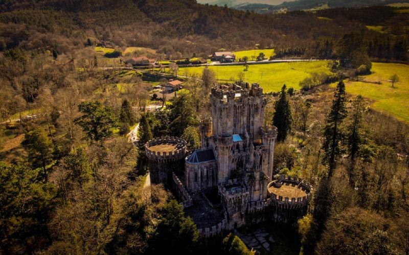 Château de Butrón et les jardins l'entourant