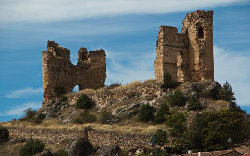 Le château de Pelegrina, mirador sur toute la vallée de la rivière Dulce