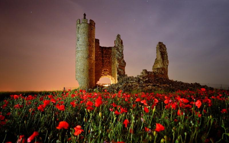 Le château de Rivadeneyra la nuit