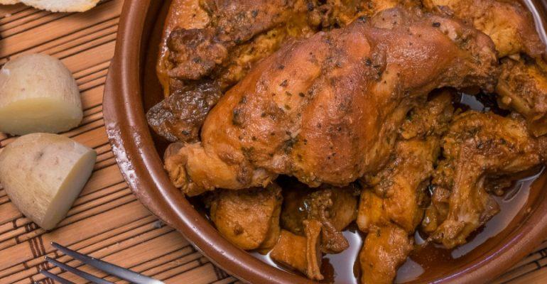 Lapin au salmorejo canarien, un plat surprenant