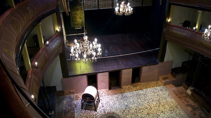 Intérieur du corral de comédies d'Alcalá de Henares