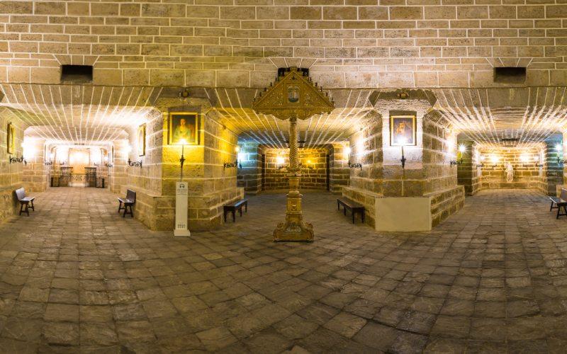 Vue panoramique de la crypte de la cathédrale de Cadix