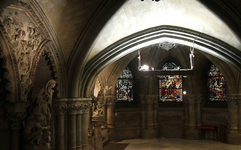 Crypte de la cathédrale de Marie Immaculée à Vitoria
