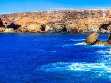 Les grottes d'Ajuy, un ancien monument naturel au bord de la mer