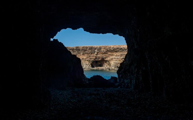 Les grottes d'Ajuy dès l'intérieur